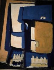 Mélange - 1984 Acrylique sur masonite 21cm X 26cm Louis Fortier