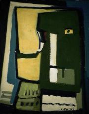 Contraste - 1984 Acrylique sur masonite 21cm X 26cm Louis Fortier