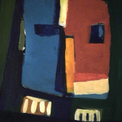 Le romain - 1984 Acrylique sur masonite 21cm X 26cm Louis Fortier