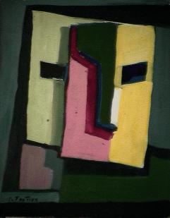 Imagination - 1984 Acrylique sur masonite 21cm X 26cm Louis Fortier