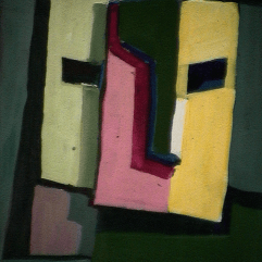 Imagination - 1984 Acrylique sur masonite 21cm X 26cm Louis Fortier