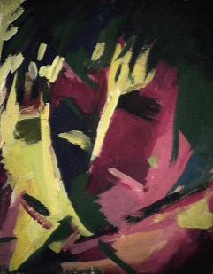 Passion - 1984 Acrylique sur masonite 21cm X 26cm Louis Fortier