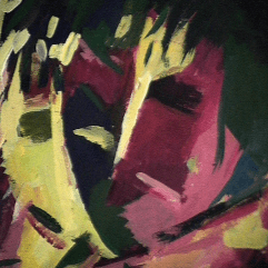 Passion - 1984 Acrylique sur masonite 21cm X 26cm Louis Fortier