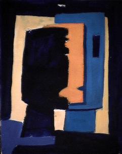 Trois faces - 1984 Acrylique sur carton 21cm X 26cm Louis Fortier