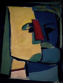 Le sphynx - 1984 Acrylique sur carton 21cm X 26cm Louis Fortier