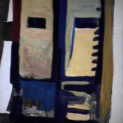 Séparation - 1984 Acrylique sur carton 21cm X 26cm Louis Fortier PRIX : 125$