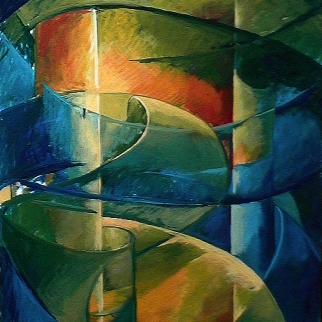 Paradis - 1980 Acrylique sur masonite 91cm X 122cm Louis Fortier PRIX : 1 500$