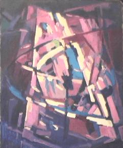 Montagne - 1984 Acrylique sur masonite 61cm X 76cm Louis Fortier
