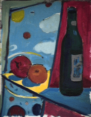 Lunatiques - 1984 Acrylique sur carton 21cm X 26cm Louis Fortier