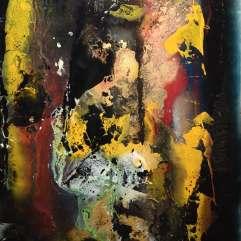 Sérénité - 1994-1997 Acrylique sur acétate 99cm X 64cm Louis Fortier PRIX : 875$
