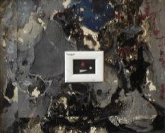 Cathédrale - 1994-1997 Acrylique sur acétate 28cm X 33cm Louis Fortier