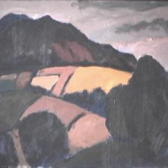 Montagne - 1982 Acrylique sur masonite 51cm X 41cm Louis Fortier PRIX : 300$