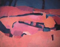 Champs d'été - 1982 Acrylique sur masonite 51cm X 41cm Louis Fortier