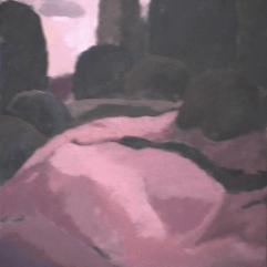 Montagne - 1982 Acrylique sur masonite 46cm X 61cm Louis Fortier