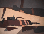 Village - 1982 Acrylique sur masonite 41cm X 51cm Louis Fortier