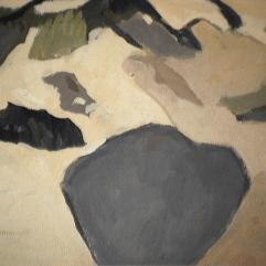 Montagne enneigée - 1982 Acrylique sur masonite 37cm X 40cm Louis Fortier PRIX : 175$