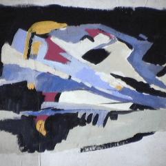 Monts noirs - 1982 Acrylique sur masonite 39cm X 28cm Louis Fortier PRIX : 150$
