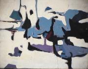 Montagne enneigée - 1979 Acrylique sur toile 52cm X 41cm Louis Fortier