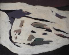 Montagne enneigée - 1979 Acrylique sur toile 61cm X 52cm Louis Fortier