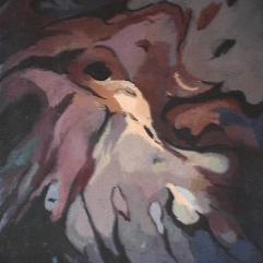 Oiseau - 1984 Acrylique sur toile 61cm X 77cm Louis Fortier PRIX : 625$