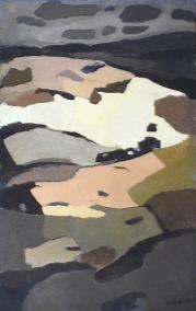 Champs printaniers - 1984 Acrylique sur toile 87cm X 137cm Louis Fortier