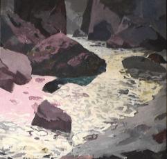 Rivière Saint-Adolphe - 1984 Acrylique sur toile 120cm X 117cm Louis Fortier