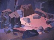 Rivière Saint-Adolphe - 1984 Acrylique sur toile 76cm X 102cm Louis Fortier