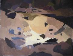 Plage - 1984 Acrylique sur toile 61cm X 77cm Louis Fortier