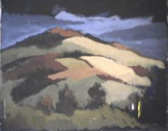 Montagnes - 1979 Acrylique sur toile 51cm X 41cm Louis Fortier