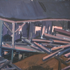 Moulin Saint-Adolphe - 1979 Acrylique sur masonite 76cm X 61cm Louis Fortier PRIX : 625$
