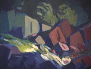 Rapides - 1979 Acrylique sur masonite 51cm X 41cm Louis Fortier