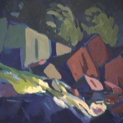 Rapides - 1979 Acrylique sur masonite 51cm X 41cm Louis Fortier PRIX : 300$