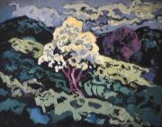 Feuillu - 1985 Acrylique sur toile 61cm X 76cm Louis Fortier