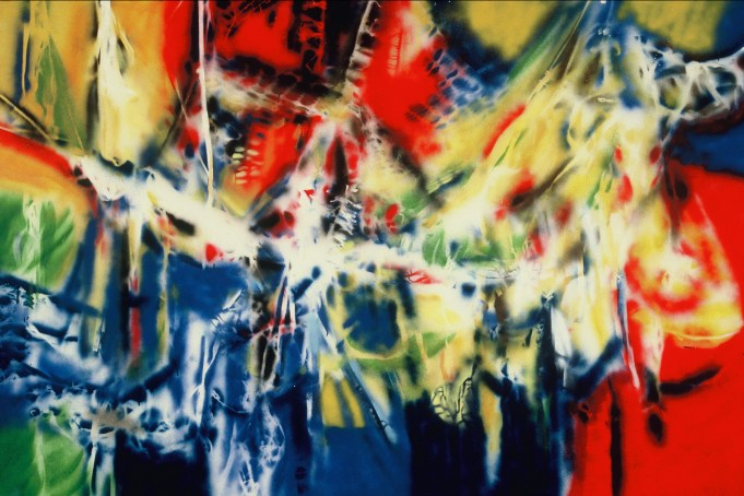Requiem pour les vivants - 1988 Aérosol sur masonite 122cm X 180cm Louis Fortier