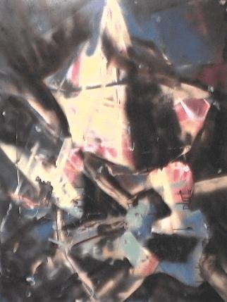 Stratification de la mémoire - 1987-1990 Aérosol sur masonite 92cm X 122cm Louis Fortier