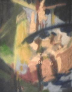 Dame du lac - 1987-1990 Aérosol sur masonite 92cm X 122cm Louis Fortier