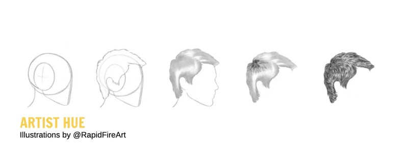 How to Draw Realistic Hair in Pencil 11