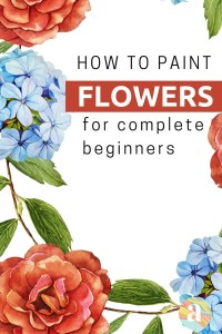 how to paint flowers in watercolor