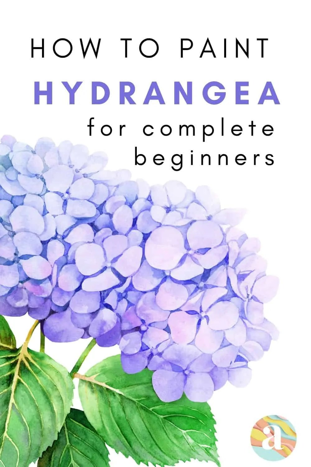 how to paint hydrangea in watercolor