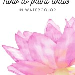 how to paint lotus in watercolor
