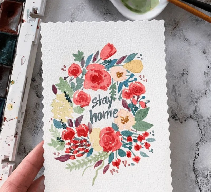 stay at home art