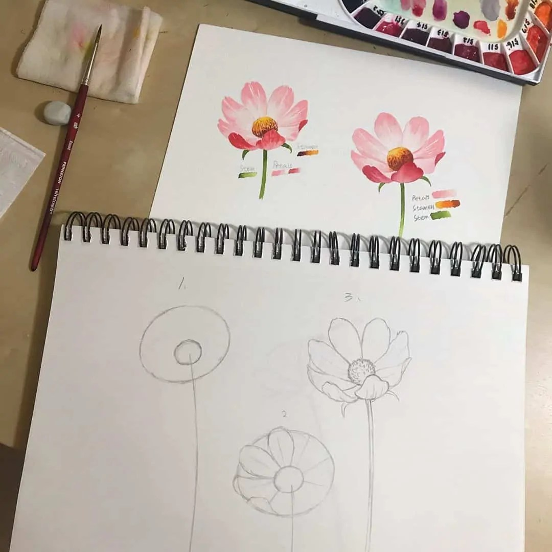 How to draw flowers for beginners? 85