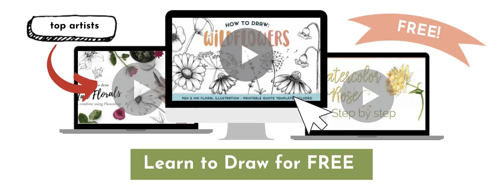 how to draw wild flowers