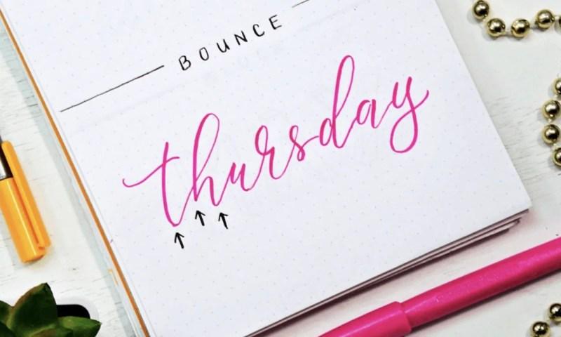 bounce calligraphy