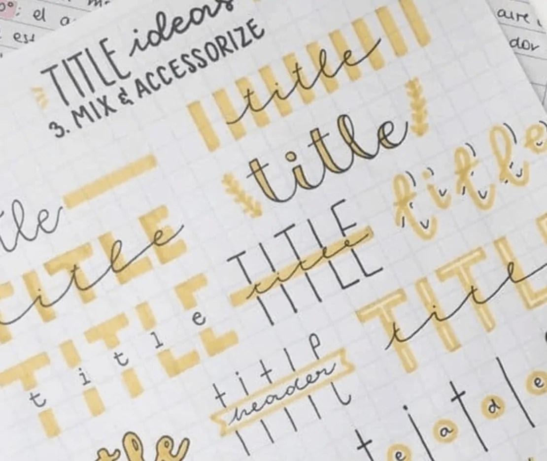 Bullet Journal Font Ideas