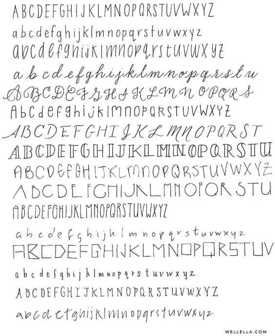 wellella.com | BUJO fonts 5