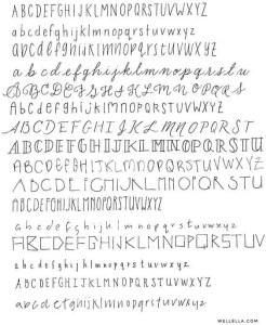 wellella.com   BUJO fonts 5