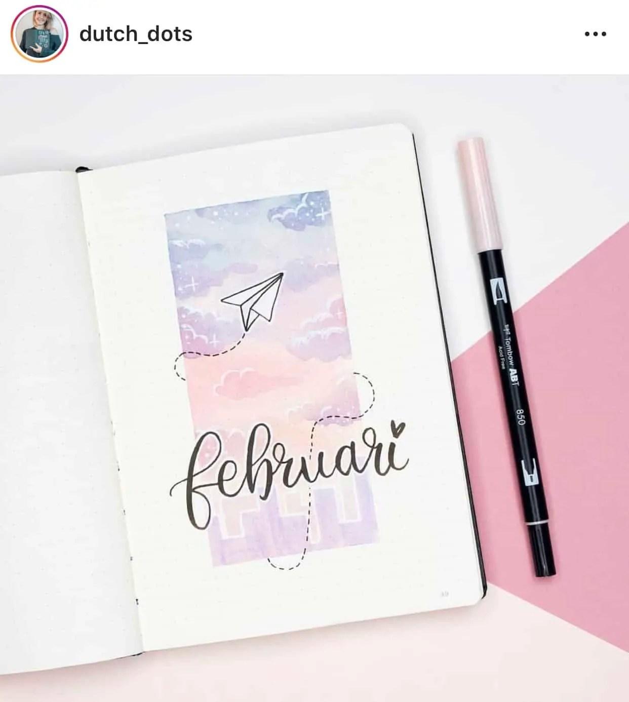 February  Bullet Journal Ideas 8