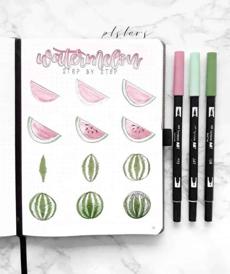 How to draw watermelon?