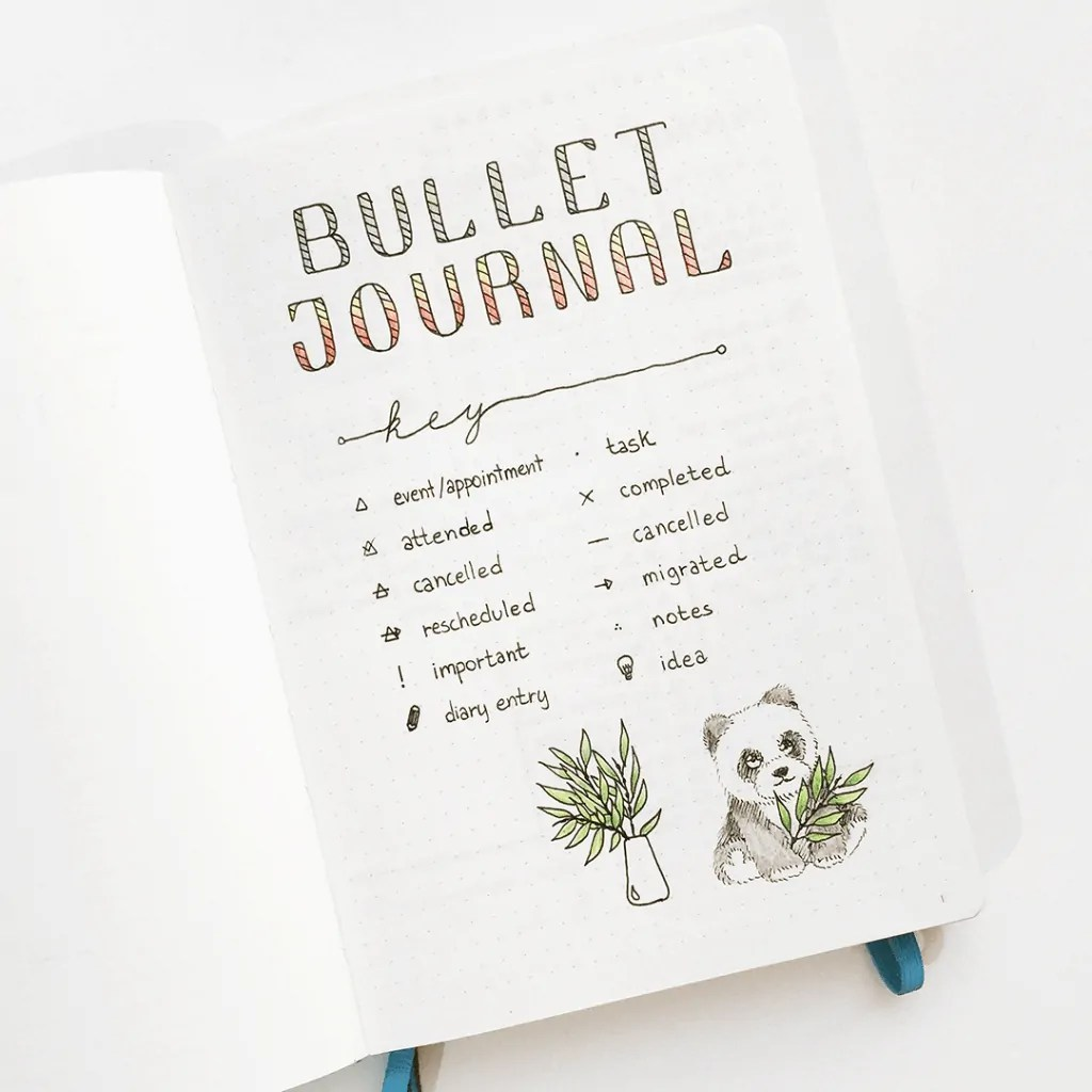 Bullet Journal Key: How to set it up + Ideas 12